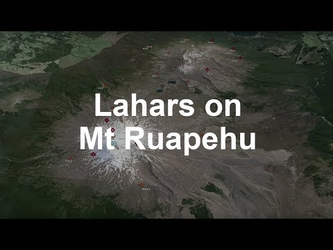 Lahars on Ruapehu Volcano