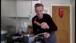 Gordon Ramsay Restaurant Chefs Jocky and Ben teach Jonny Bairstow to make cookies and hot chocolate