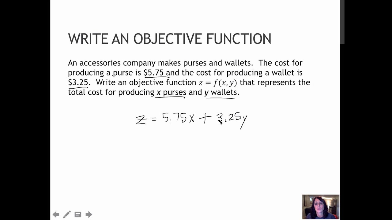 Captivating 121 Write An Objective Function (5.6) Inside How To Write An Objective