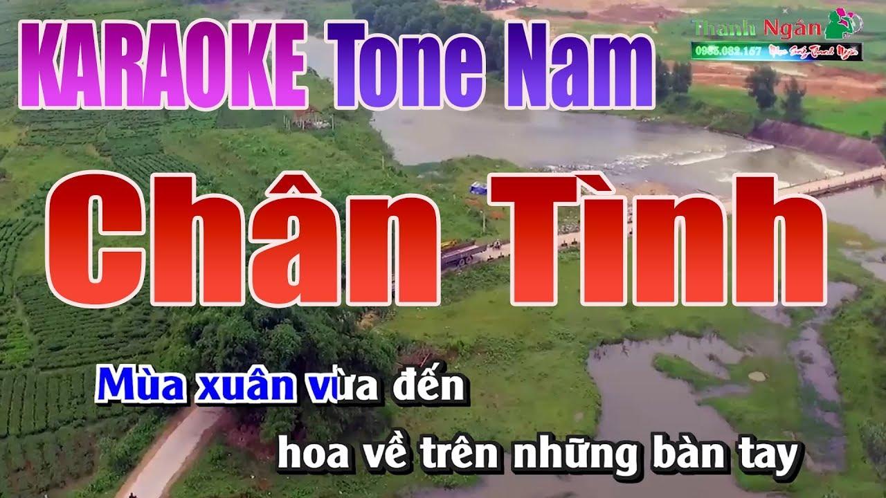 Chân Tình Karaoke | Tone Nam – Nhạc Sống Thanh Ngân