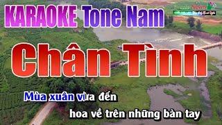 Chân Tình Karaoke | Tone Nam - Nhạc Sống Thanh Ngân