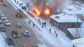 100-летняя хата выжигается у Автовокзала.