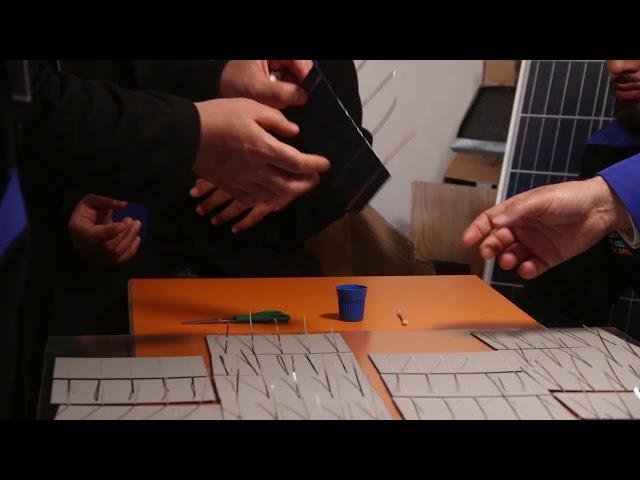 تجميع أول لوح طاقة شمسية على مستوى سوريا - هيئة ساعد الخيرية