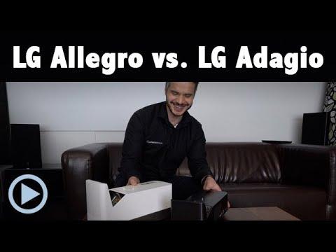 Vergleich: LG Allegro HF85JS vs. LG Adagio PF1000UT Kurzdistanz Beamer