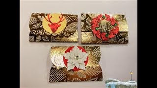 12 Days of Christmas   Day 2  Gift Card Holders x 3