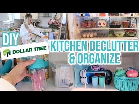 CLEAN WITH ME 2019 // DIY DOLLAR TREE KITCHEN ORGANIZATION AND DECLUTTER