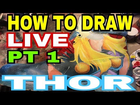 How To Draw | Thor | Custom Timberland Boots | Infinity Wars (2018) By Gymshoe Pt 1