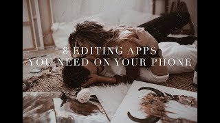 THE 8 EDITING APPS YOU NEED ON YOUR PHONE - how I edit vintage
