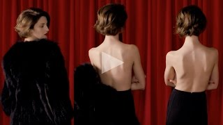 ceft and company: coat never underdressed ad with model cris herrmann director karen collins Thumbnail