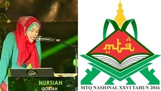 Video Nursiah - Qoriah Terbaik 1 MTQ Tahun 2014 - Pembukaan MTQ Nasional ke-26 Tahun 2016 Provinsi NTB download MP3, 3GP, MP4, WEBM, AVI, FLV Juni 2018