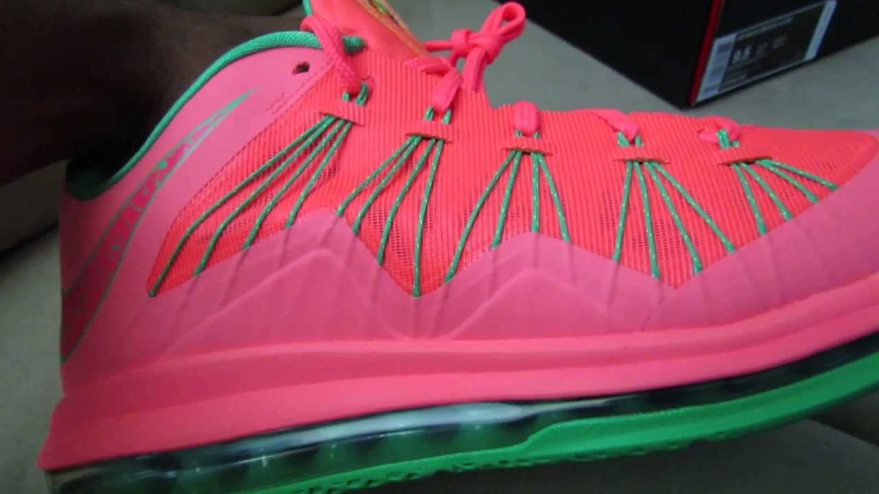 watch 8f96b 014ba Nike Lebron 10 Low Watermelon