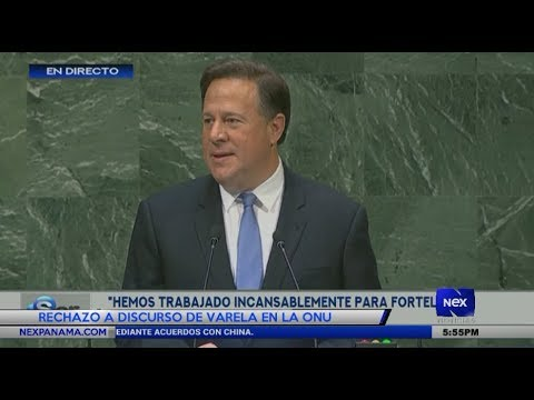 Rechazo a discurso de Varela en la ONU por no reconocer lucha de panameños