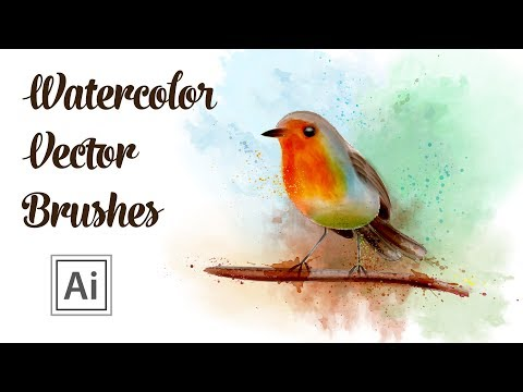 Vector Watercolor Brushes Drawing - How to draw a Bird in Adobe Illustrator thumbnail