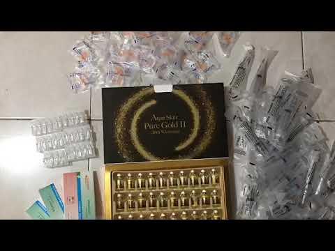 Aqua Skin Pure Gold II (How To Prepare IV Push Gluta)