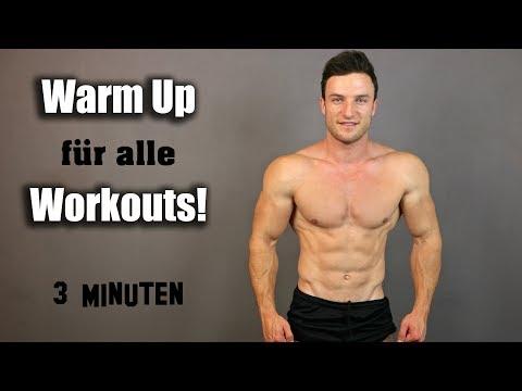 3 Minuten Ganzkörper Warm Up für alle Workouts!