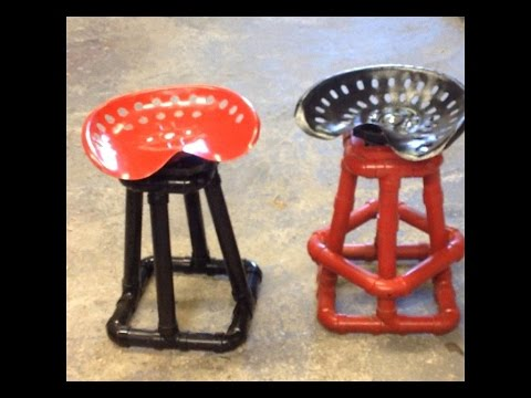 Tractor Seat Bar Stool -  ABS or PVC Pipe