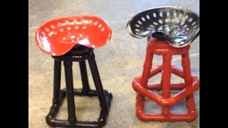 "1 1/2"" Abs Pipe ""man Cave"" Stool"