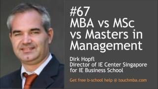 What is the difference between Masters in Management, MBA and speci...