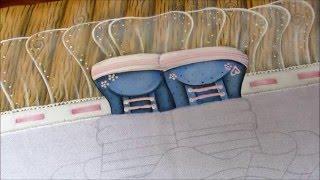 Aula de pintura em tecido – Parte 1 do projeto Ursinha Fofa – Mariana Santos