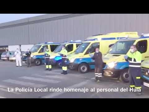 La Policía Local de Lugo homenajea al personal del Hula