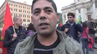 Roma scende in piazza per il popolo curdo
