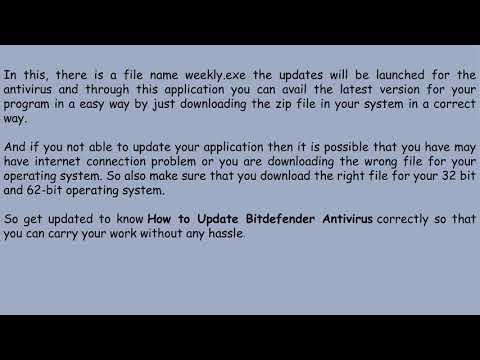 How To Update Bitdefender Antivirus?