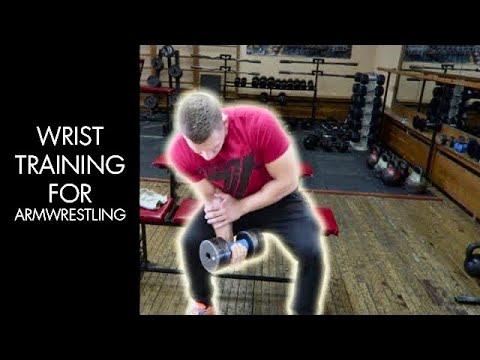 SITTING DUMBBELL WRIST CURLS (ARM WRESTLING EXERCISE)