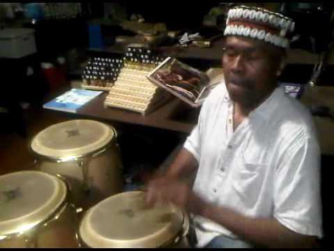 Master Percussionist Benjamin Baker playing the Latin Percussion in his Atlanta loft