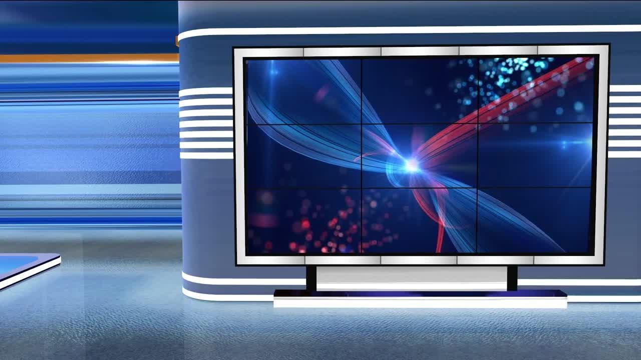 Virtual Studio Newsroom C2 Stock Motion Graphics Youtube