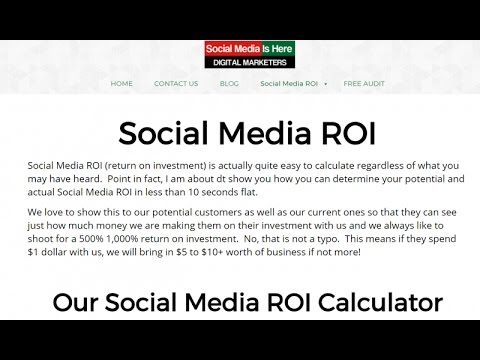 calculating social media roi Calculating your return on investment from social media channels is no different that any other marketing channel roi, or return on investment, is simply a performance calculation to calculate roi, the return of an investment is divided by the cost of the investment and the result is expressed as a percentage or a ratio.