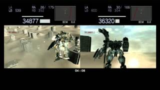 Armored Core For Answer PS3 2 Player Split Screen Part 1 (Old Peace City)