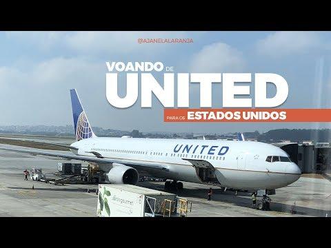 Como é voar United para os Estados Unidos
