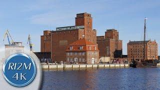 4K UHD Relaxing Video: Wismar, Germany - Alter Hafen, Alte Häuser (Old Harbor, Old Houses)