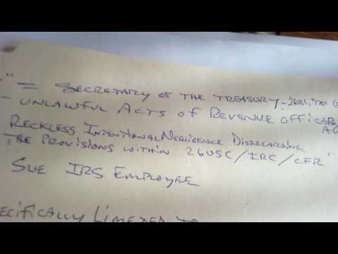 Freedom of Information Act Requst IRS Part 1