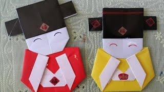 小財神摺紙 Chinese Mammon Origami (財神爺折紙)