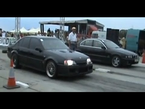 lotus omega carlton vs bmw e39 drag race 1 4 mile youtube. Black Bedroom Furniture Sets. Home Design Ideas