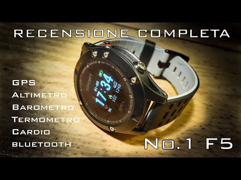 No.1 F5 Smartwatch GPS Heart Rate Temperature Altitude RECENSIONE