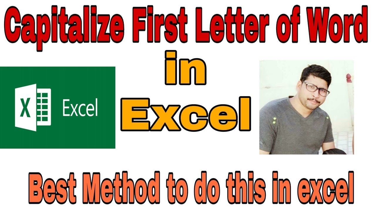 Msl009 Capitalize First Letter In Each Word In Excel Youtube