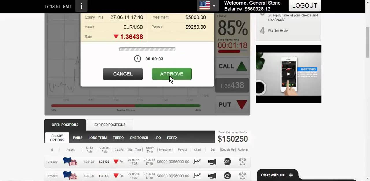 how much did you make with binary options