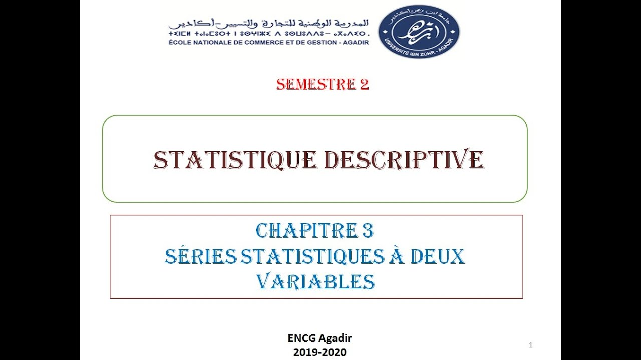 Séries statistiques doubles (partie 1/3) - YouTube