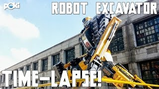 Truck or Robot! Robot Excavator Poki Time-Lapse