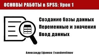 Основы SPSS Statistics. Урок 1. Создание базы данных (обработка опроса)