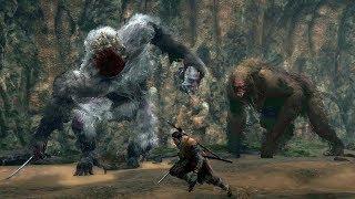 Sekiro: Headless Ape and Guardian Ape Wife Boss Fight