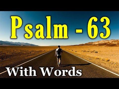 Psalm 63 - Thirsting for God (With words - KJV)
