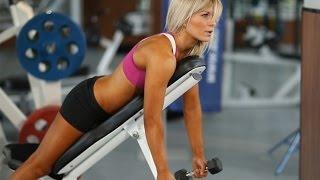 Фитнес тренировка на мышцы плеч(Фитнес тренировка на мышцы плеч. Чаще всего, задавшись целью похудеть, женщины мечтают в первую очередь..., 2015-05-06T13:26:14.000Z)