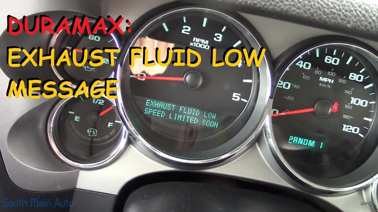 2011 2015 Chevrolet Gmc Exhaust Fluid Low Message Youtube