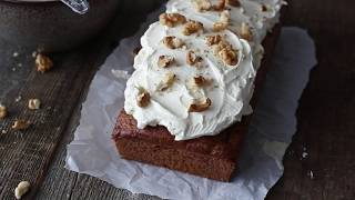Carrot Cake Loaf with Cream Cheese Frosting Recipe
