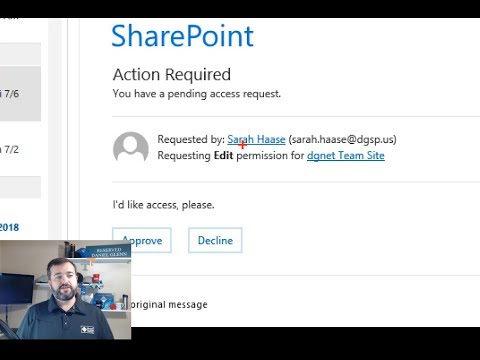 Managing SharePoint Access Requests - YouTube