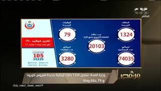 وزارة الصحة: 1324 إصابة جديدة بكورونا و79 وفاة.. شاهد تعليق عمرو خليل   #من_مصر