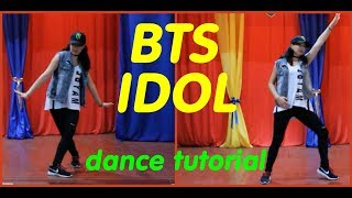 "Dance tutorial BTS - ""IDOL"" by E.R.I